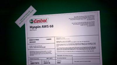 CASTROL HYSPIN AWS VG 68/ can 18 lít, phuy 209 lít – Mr Hùng: 0985.864.106